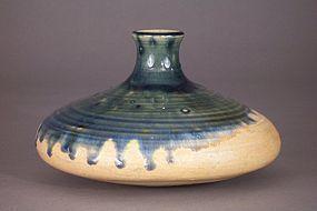Sgd 20th Century Japanese Agano Pottery Oil Tsubo, Vase