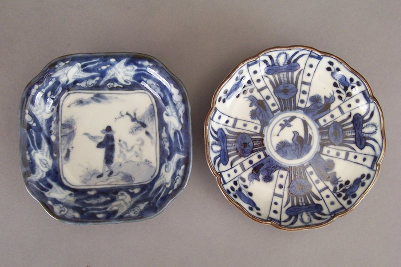 Arita Blue and White Mamezara, Kraak Style and Namban