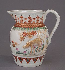 Kakiemon style Deer and Maple porcelain creamer