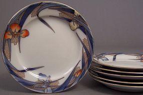 Fukagawa Iris pattern 5 7/8 inch bread plate
