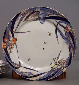 Fukagawa Iris pattern 8 3/8 inch salad plate