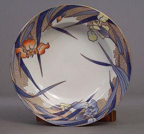 Fukagawa Iris pattern 8 7/8 inch soup bowl