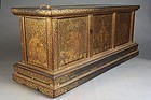 Thai Polychrome Illustrated Sutra and Lacquer Sutra Box