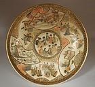 Satsuma Dish. Figures, Landscapes, Butterflies, Tea Objects Decoration