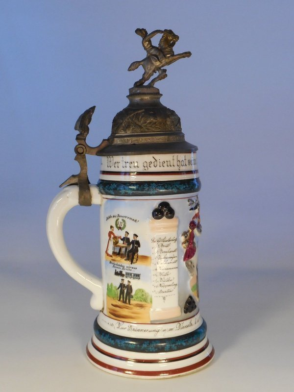 German Regimental Stein, Reservist Kupperling, Cassel, 1904-1906