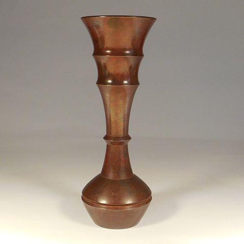 A Modern Japanese Murashido Turned Bronze Vase. Nakajima Yasumi II