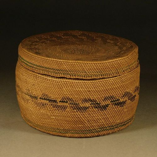 A Small, Northwest Coast, Finely Woven Basket. Probably Tlingit
