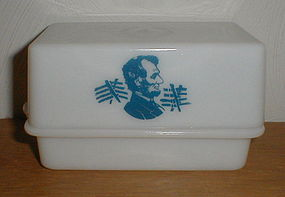 "McKee ""Abe Lincoln"" 1 lb. Butter Dish"