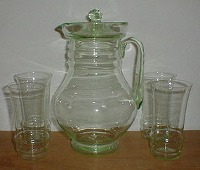 Green Party Line Water Set
