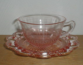 Old Colony pink Cups & Saucers