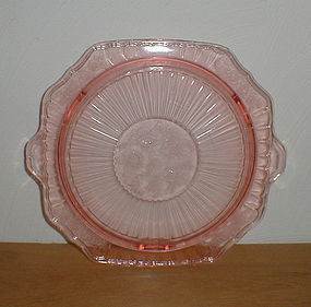 Pink Mayfair Footed Cake Plate