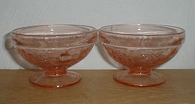 Pink Sharon footed Sherbets