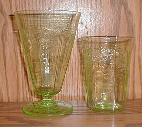 "Green Princess Tumblers 4"" & 5 1/4"""