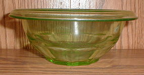 "Green Hazel Atlas ""RestWell"" 6 1/2"" Mixing Bowl"