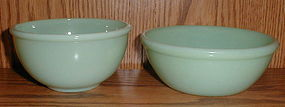 Fire King Jadeite Beaded Edge Bowls