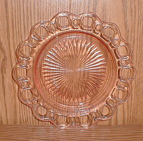 "Pink OLD COLONY 8 1/4"" Luncheon Plate"
