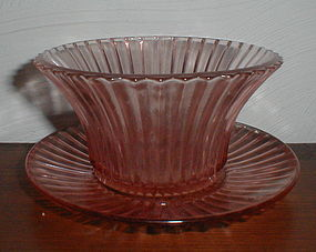 "Pink Queen Mary 5"" Mayonnaise Bowl & Underplate"