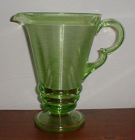 Green OLD ENGLISH Pitcher