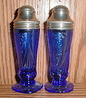 Cobalt ROYAL LACE Salt & Pepper Shakers