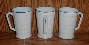 "Moderntone ""Blue Stripe"" Mugs"