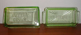 Green Depression 1 lb. Butter Dish