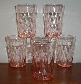 Pink DIAMOND OPTIC Tumblers
