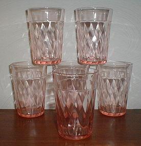 Pink DIAMOND OPTIC Tumblers