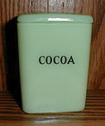 "Jadeite Childs 3"" Cocoa Canister"