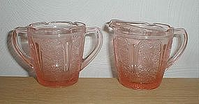 Pink Cherry Blossom Children's Creamer & Sugar