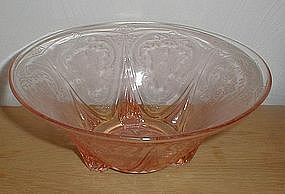 "Pink ROYAL LACE 10"" 3 ftd Straight Edge Bowls"