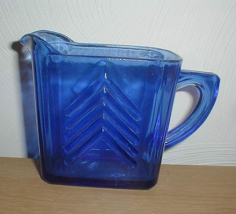Cobalt CHEVRON Milk Pitcher