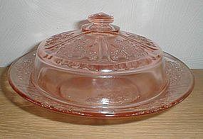 Pink SHARON Butter Dish  VINTAGE