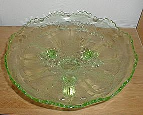 "Fenton Green STAG & HOLLY 10 1/2"" Bowl"