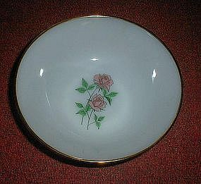 "Fire King ANNIVERSARY ROSE 8 1/4"" Vegetable Bowl"