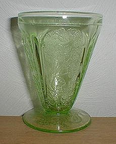 "Green CHERRY BLOSSOM 3 3/4"" Footed Tumbler"