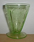 """Green CHERRY BLOSSOM 3 3/4"""" Footed Tumbler"""