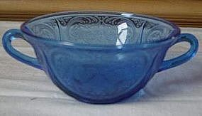 Cobalt ROYAL LACE Cream Soup Bowls