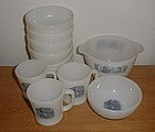 Fire King CURRIER & IVES Mugs & Bowls