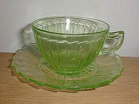 Green SIERRA Cups and Saucers