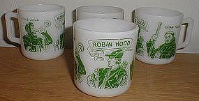 Hazel Atlas ROBIN HOOD Mugs