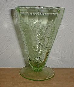 "Green FLORAL Poinsettia 4 3/4"" 7 oz. Footed Tumbler"