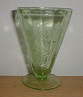 """Green FLORAL Poinsettia 4 3/4"""" 7 oz. Footed Tumbler"""