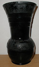 "Paden City BLACK FOREST 10"" Vase - black"