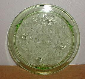 Green SUNFLOWER Cake Plate