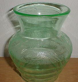"""Green BLACK FOREST 6 1/2"""" Vase"""
