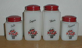 Tipp City FLOWER BASKET 4 Shaker Set