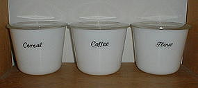 McKee 40 oz. Canisters - White - Coffee, Cereal & Flour