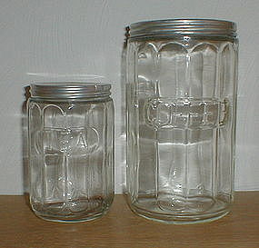 Embossed Tea & Coffee Canisters - Crystal