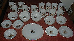 Fire King GAME BIRDS Bowls, Mugs, Tumblers
