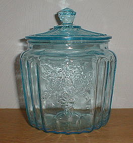 BLUE MAYFAIR Cookie Jar & Lid